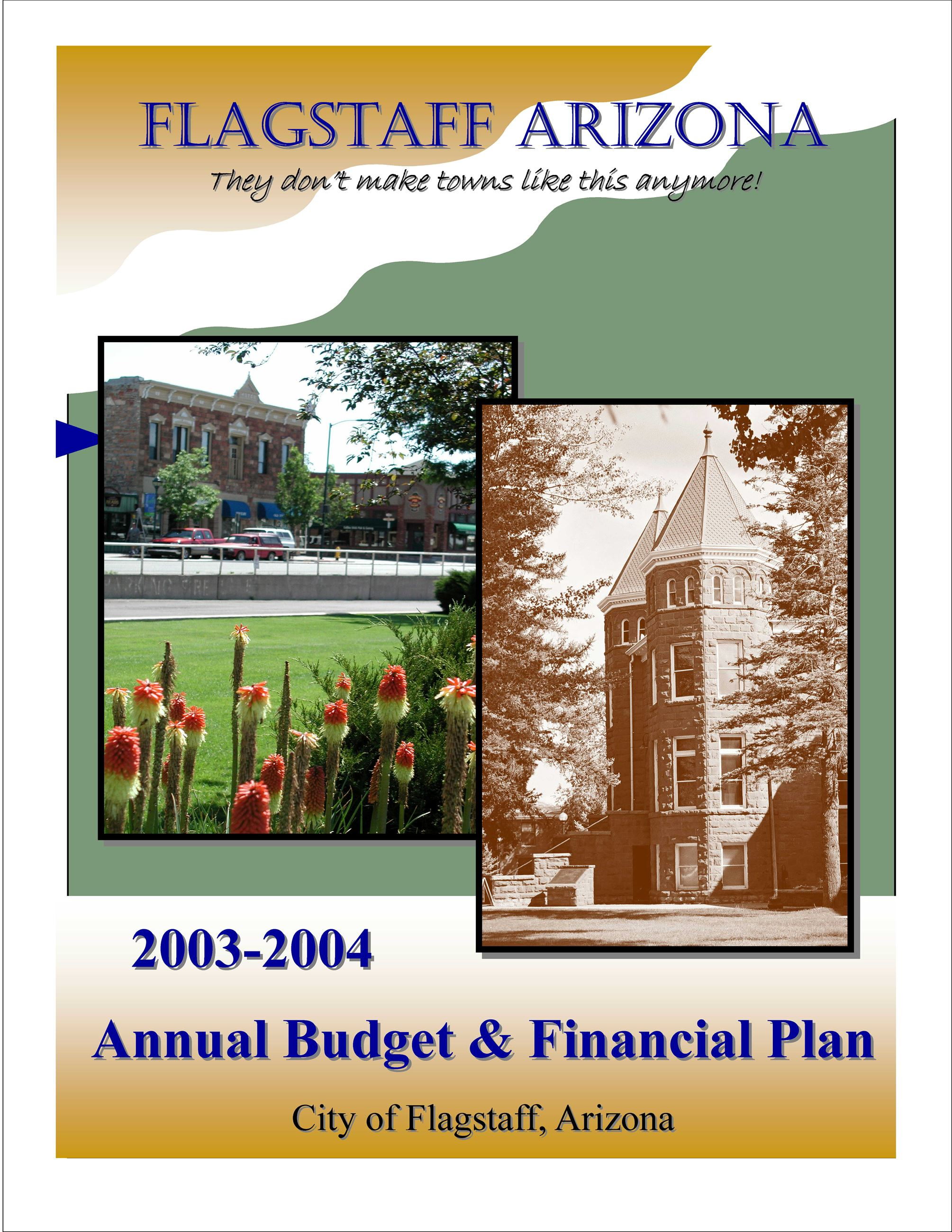 2004 City of Flagstaff Annual Budget and Financial Plan (PDF)