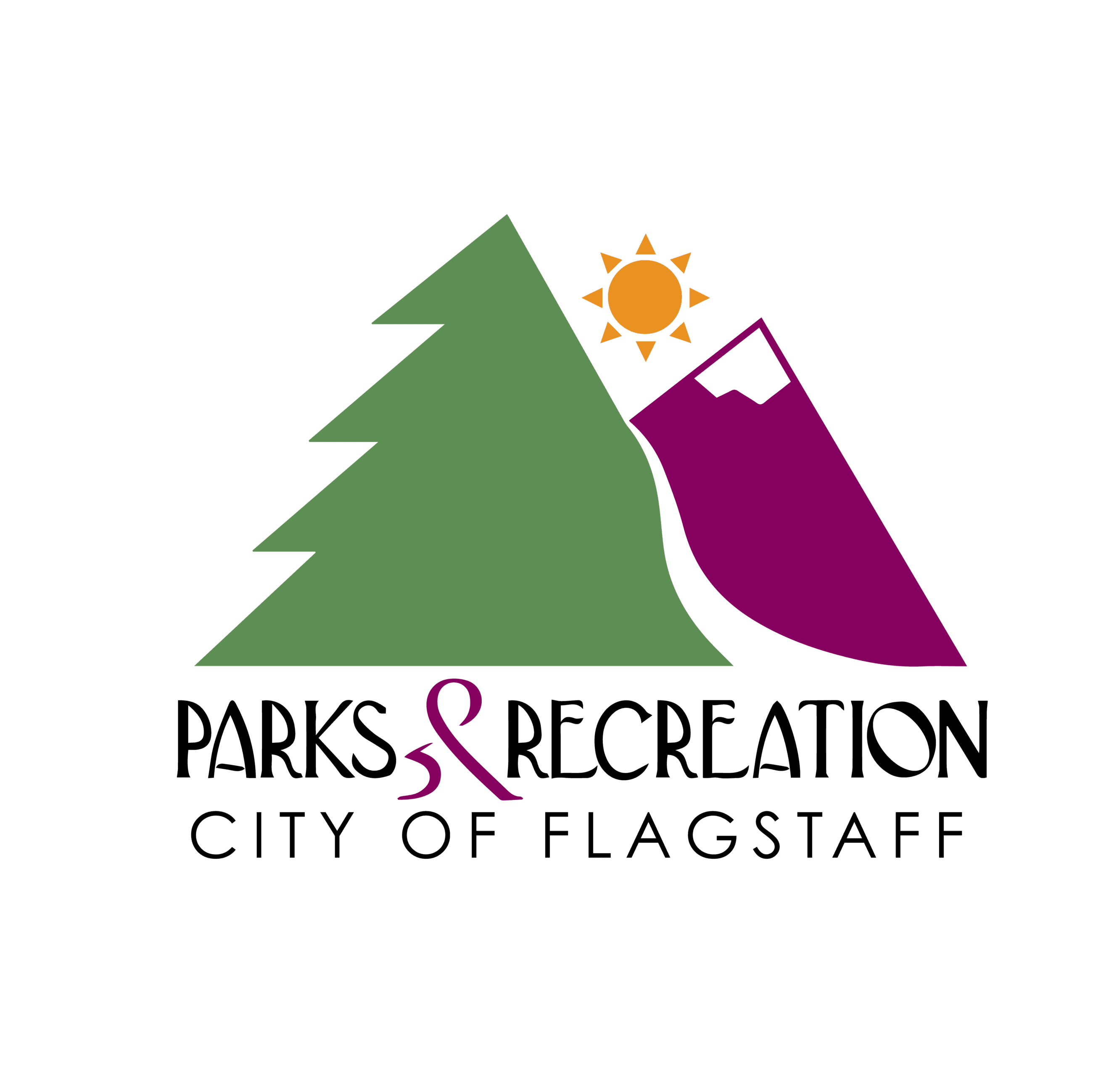 Green and Purple Parks & Recreation Logo