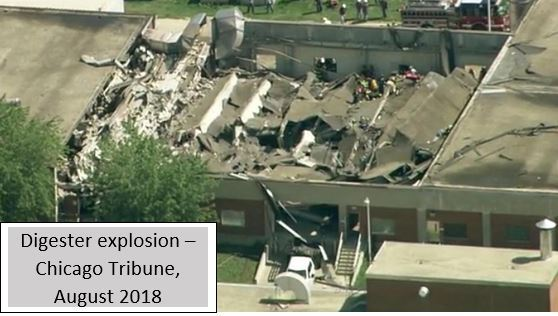 3) Digester explosion - Chicago Tribune, August 2018
