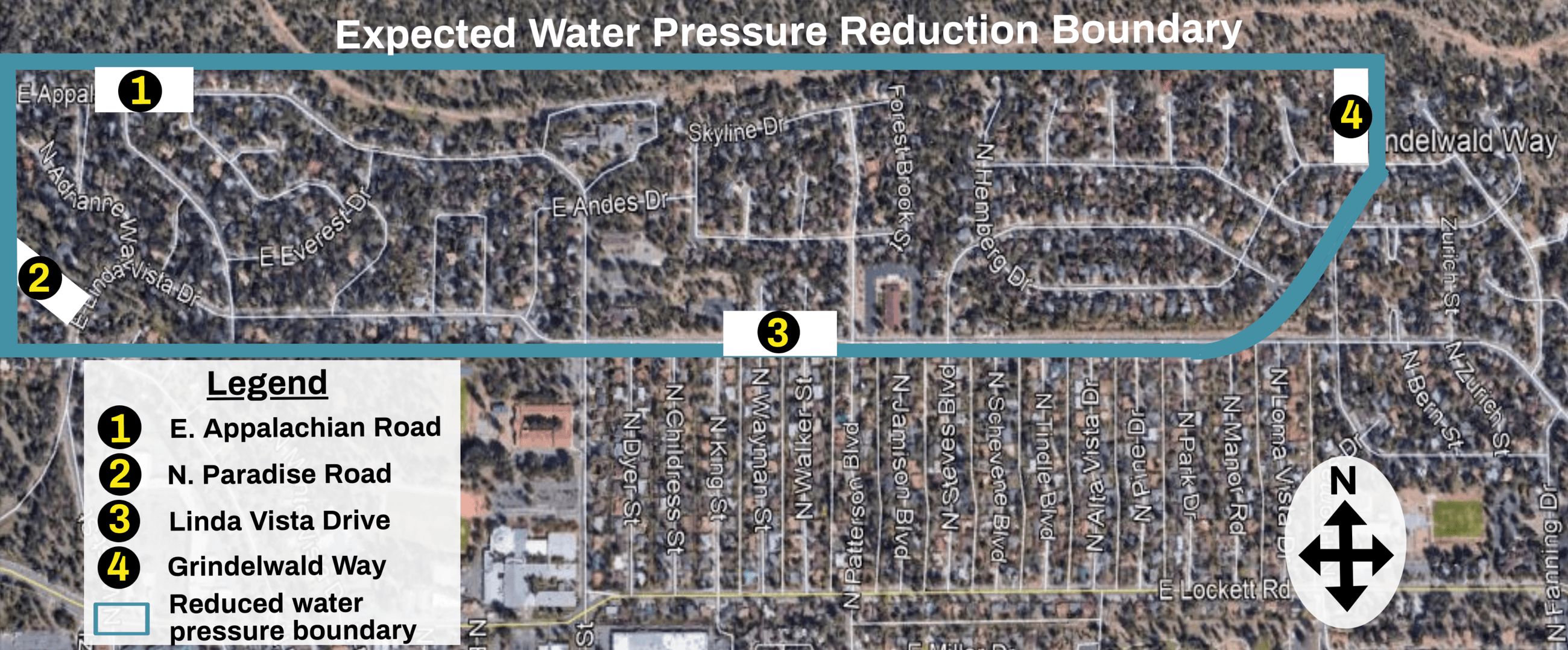 Reduced water pressure boundary V.3