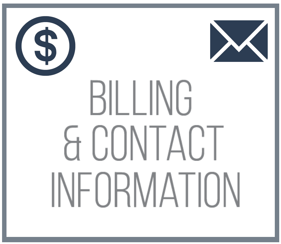 Billing and Contact Information