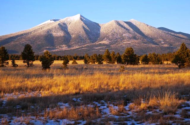 View of the San Francisco Peaks from Observatory Mesa Natural Area Photo Copyright: Tom Bean Photogr