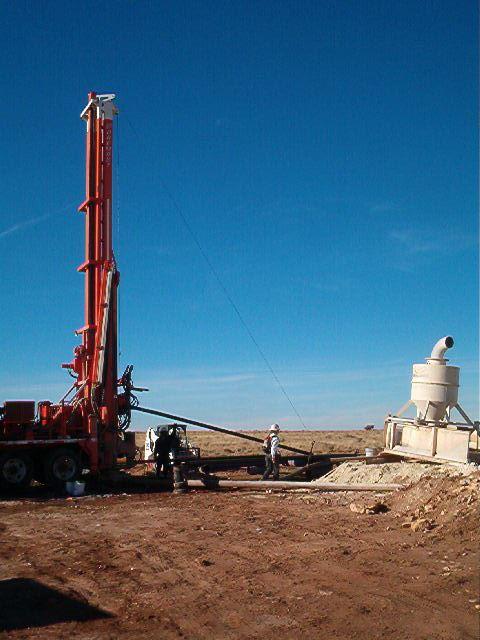 Drill rig at Red Gap Ranch.