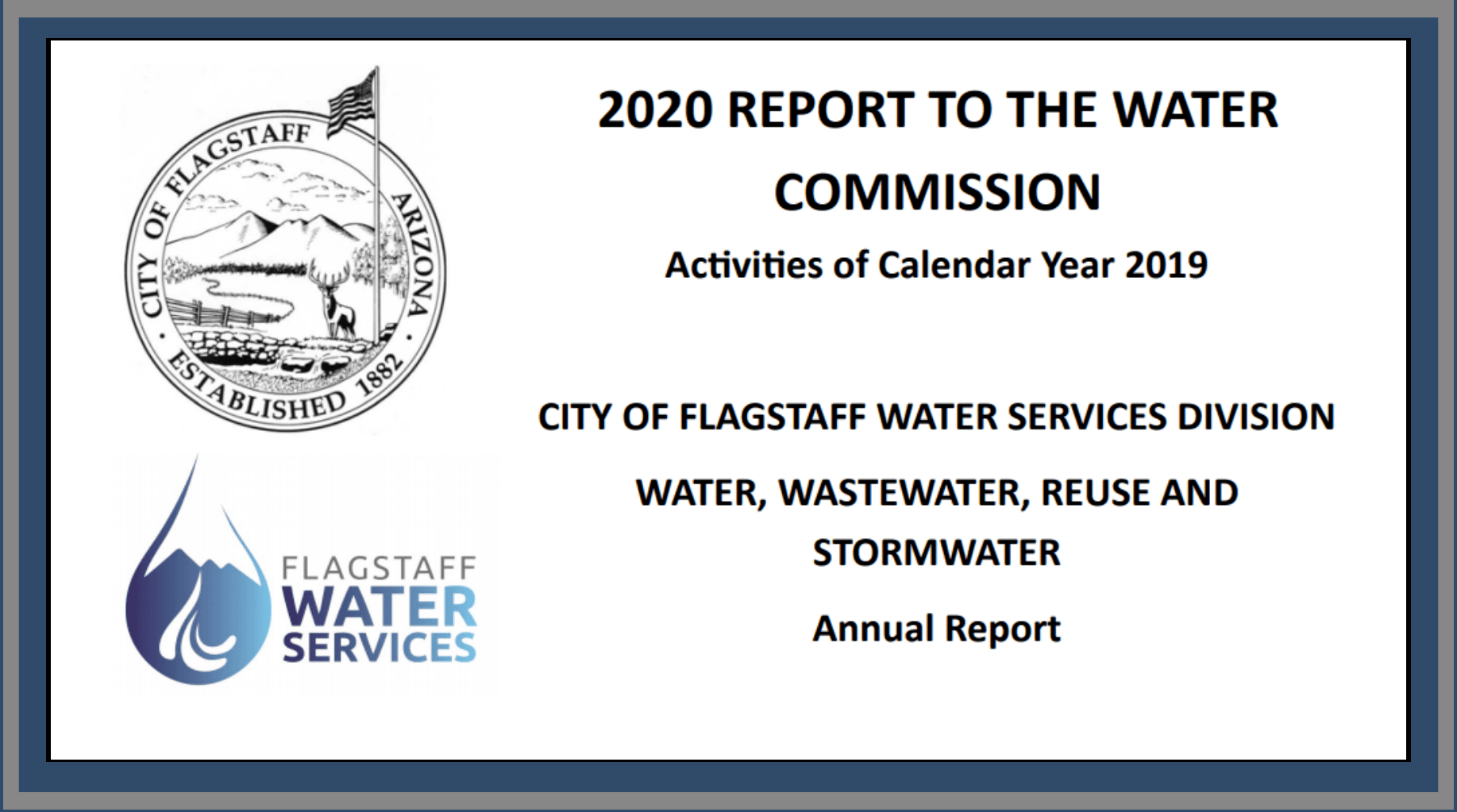 2020 Report to the Water Commission